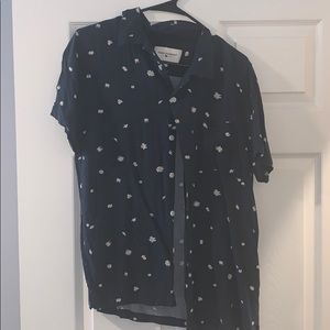 Viscose Short Sleeved Flowered Shirt